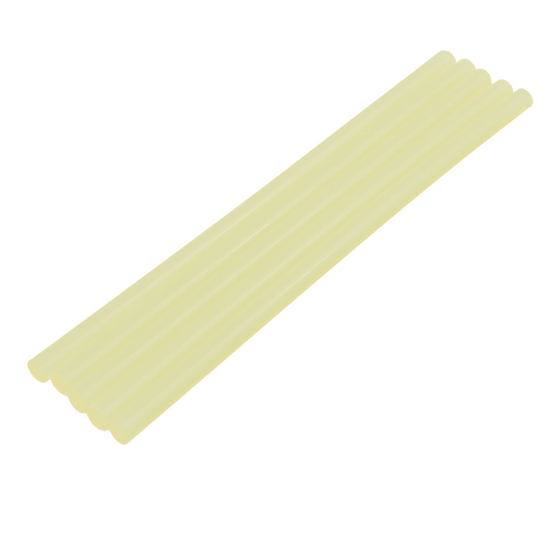 5 Pcs 11mm x 285mm Hot Melt Glue Adhesive Stick Yellow for Electric Tool Heating Gun