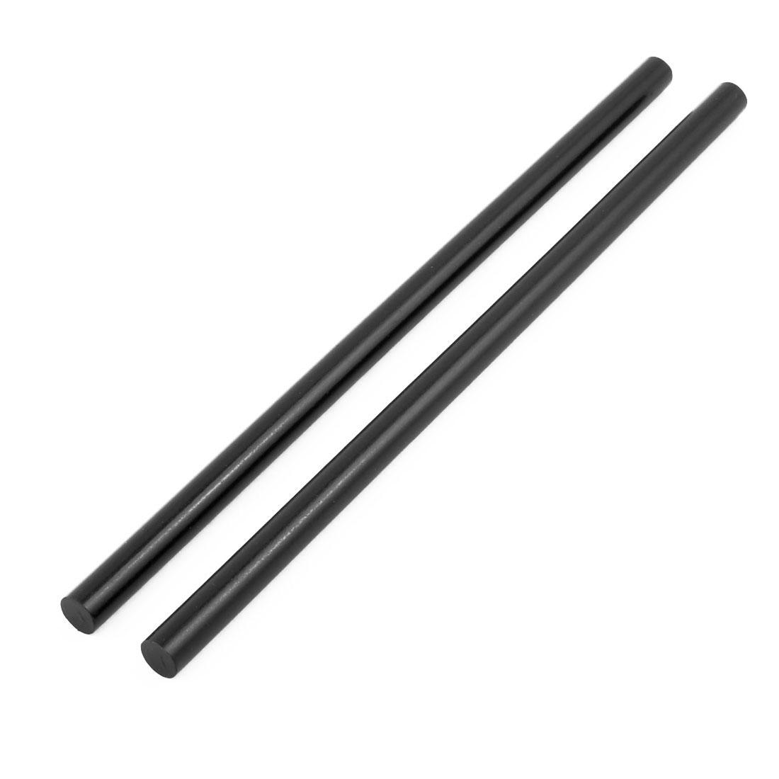 2 Pcs 11mm x 270mm Black Hot Melt Glue Stick for Electric Tool Hot Melt Glue Gun