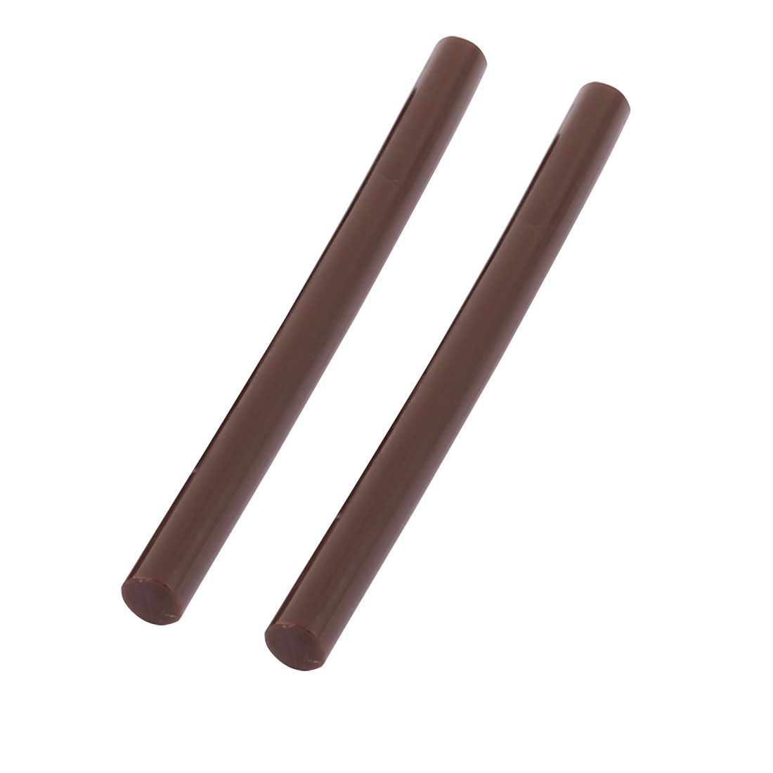 2pcs Mini Brown Adhesive Hot Melt Glue Sticks 7mm x 100mm For Hot Melt Glue Gun