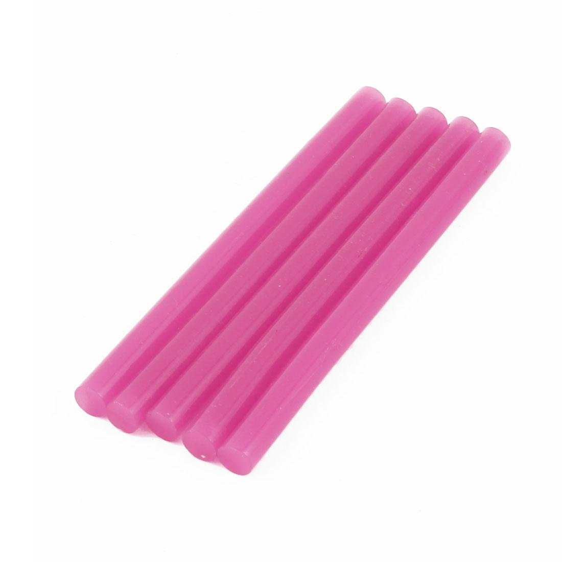 5pcs 100 x 7mm Rose Red Hot Melt Glue Quick Stick for Electric Tool Heating Gun