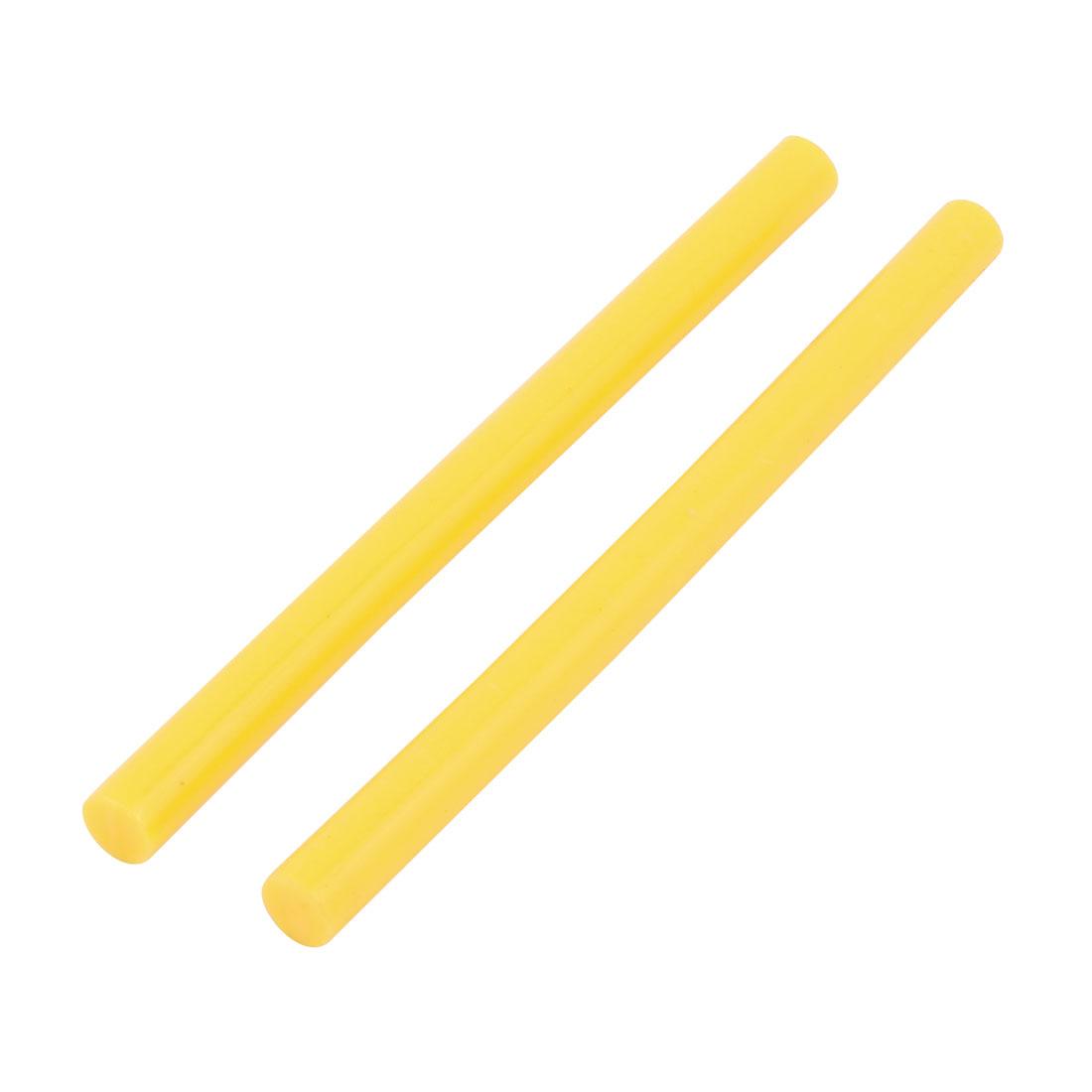 "2Pcs 3.9""Length 7mm Dia Yellow Hot Melt Glue Stick for Electric Tool Heating Gun"