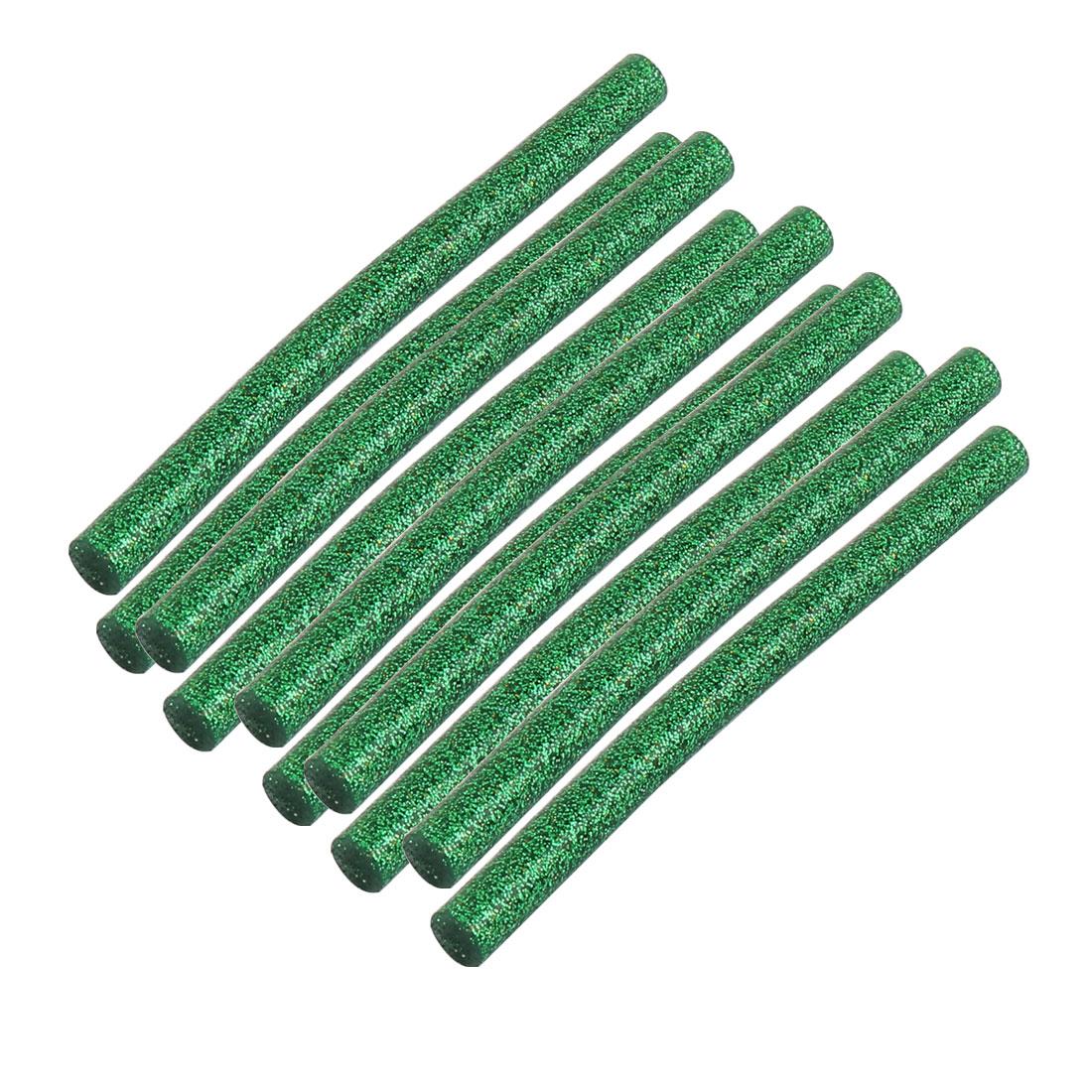 10pcs 100mm x 7mm Green Hot Melt Glue Sticks for General Purpose Hot Melt Gun