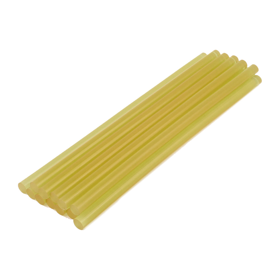 12 Pcs 11mm x 285mm Hot Melt Glue Adhesive Stick Yellow for Electric Tool Heating Gun