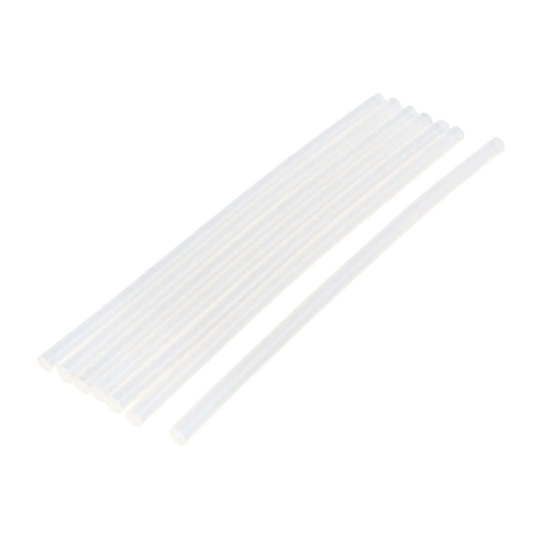 7 Pcs 7mm x 190mm Hot Melt Glue Adhesive Stick Clear for Electric Tool Heating Gun