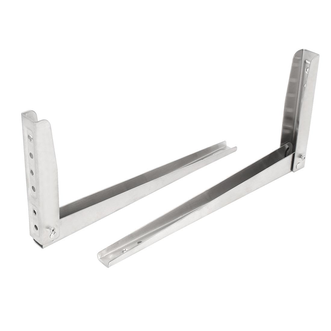 "12"" Stainless Steel Folding Wall Mounted Shelf Bracket Brace Sliver Tone 2pcs"