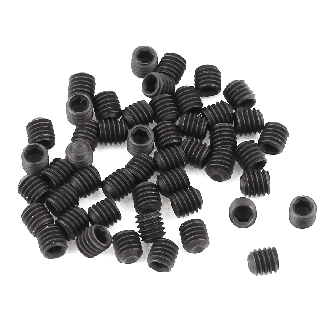 50 Pcs 3 x 3mm Thread Hexagon Socket Drive Cup Point Head Grub Screws