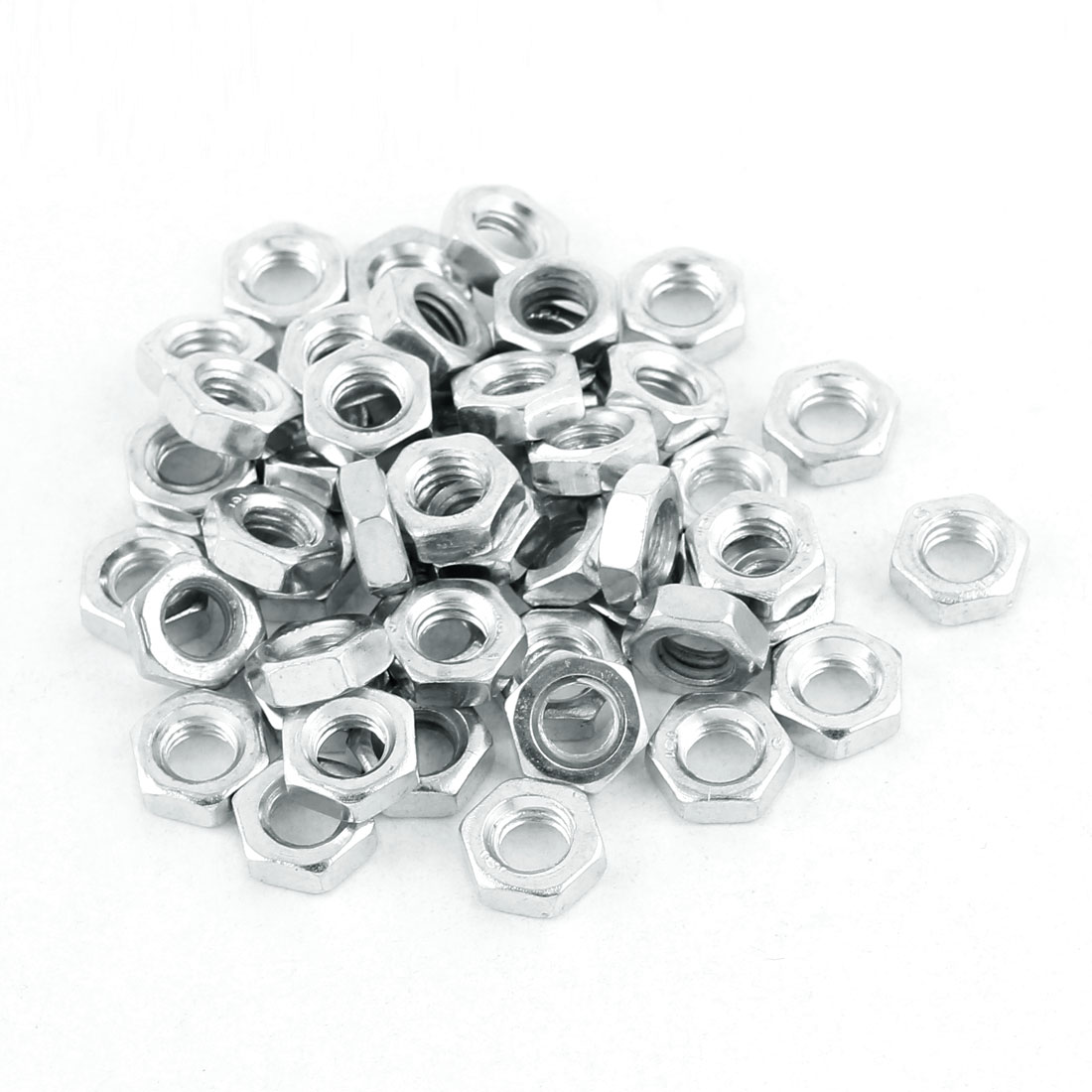 M6 Thread Dia 304 Stainless Steel Metric Hex Nut Screw Cap Fastener Silver Tone 50pcs