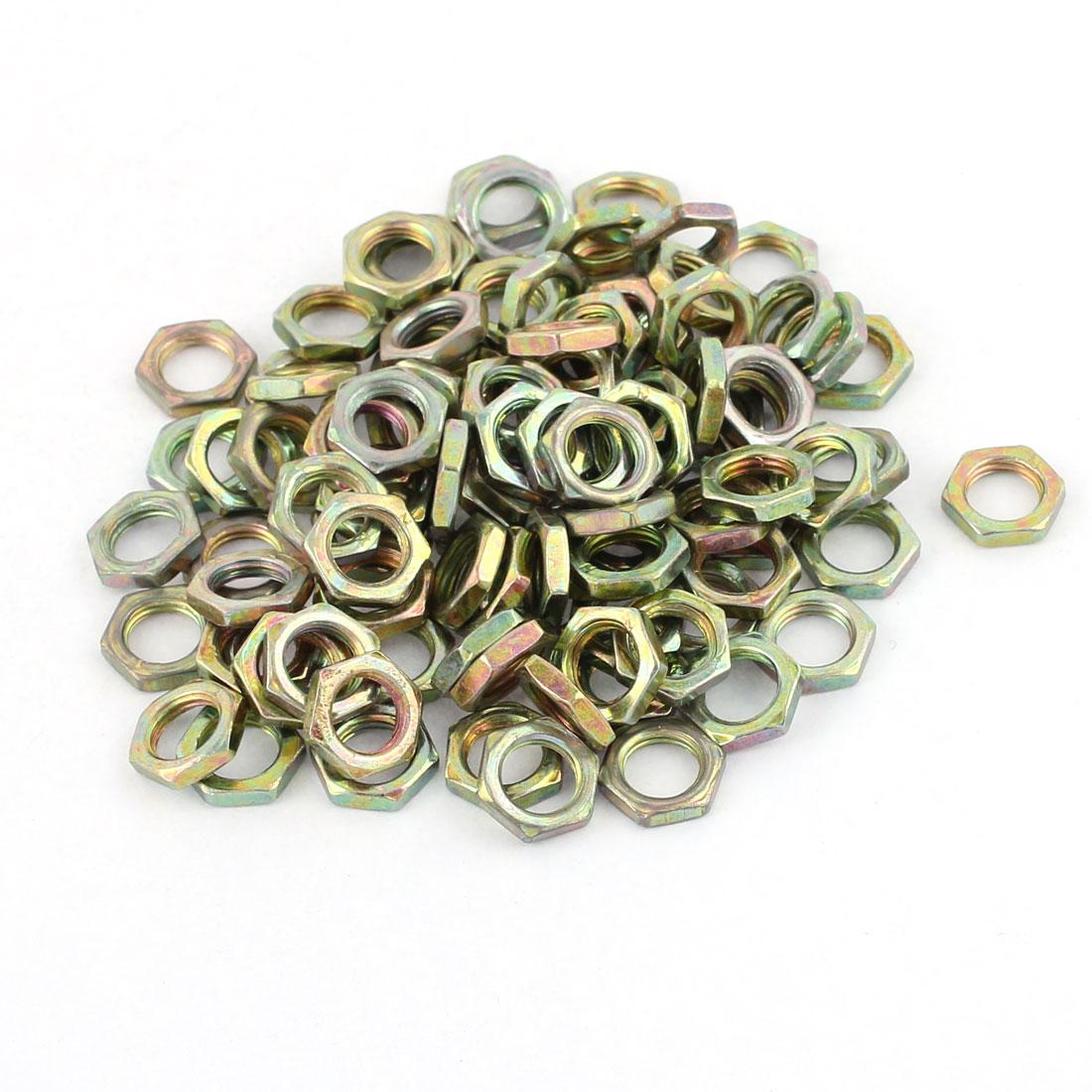 M7 Thread Dia 304 Stainless Steel Metric Hex Nut Screw Cap Fastener 100pcs
