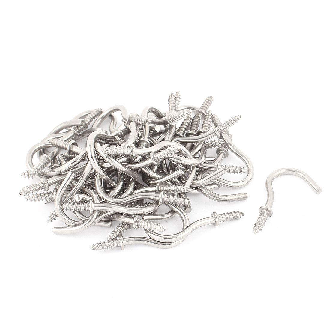 50 Pcs 4mm Stainless Steel Shouldered Cup Hook Screw In Hat Coat Peg Bolts