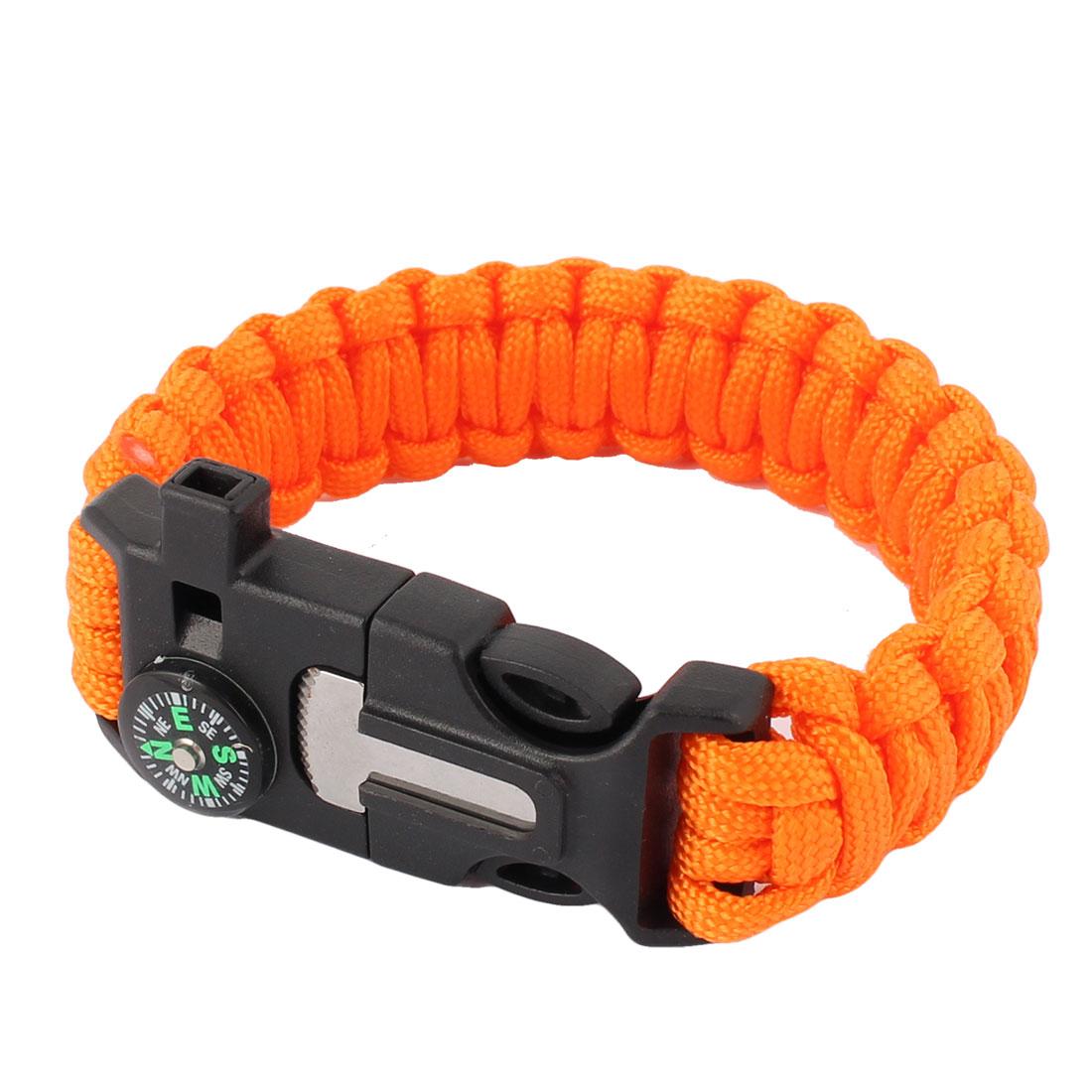 Outside Hiking Camping Multifunctional Design Survival Bracelet Gear