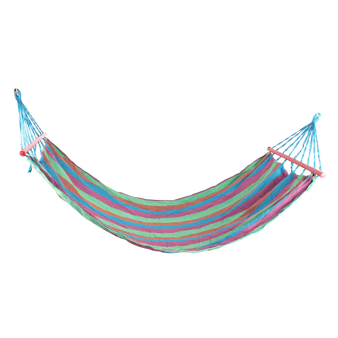Outdoor Camping Leisure Canvas Hanging Sleeping Bed Hammock Colorful 190X80cm