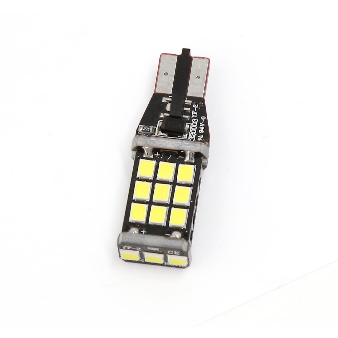 Car 21 SMD DC 12V 18W 2835 T15 Wedge White LED Light Backup Lamp Bulb
