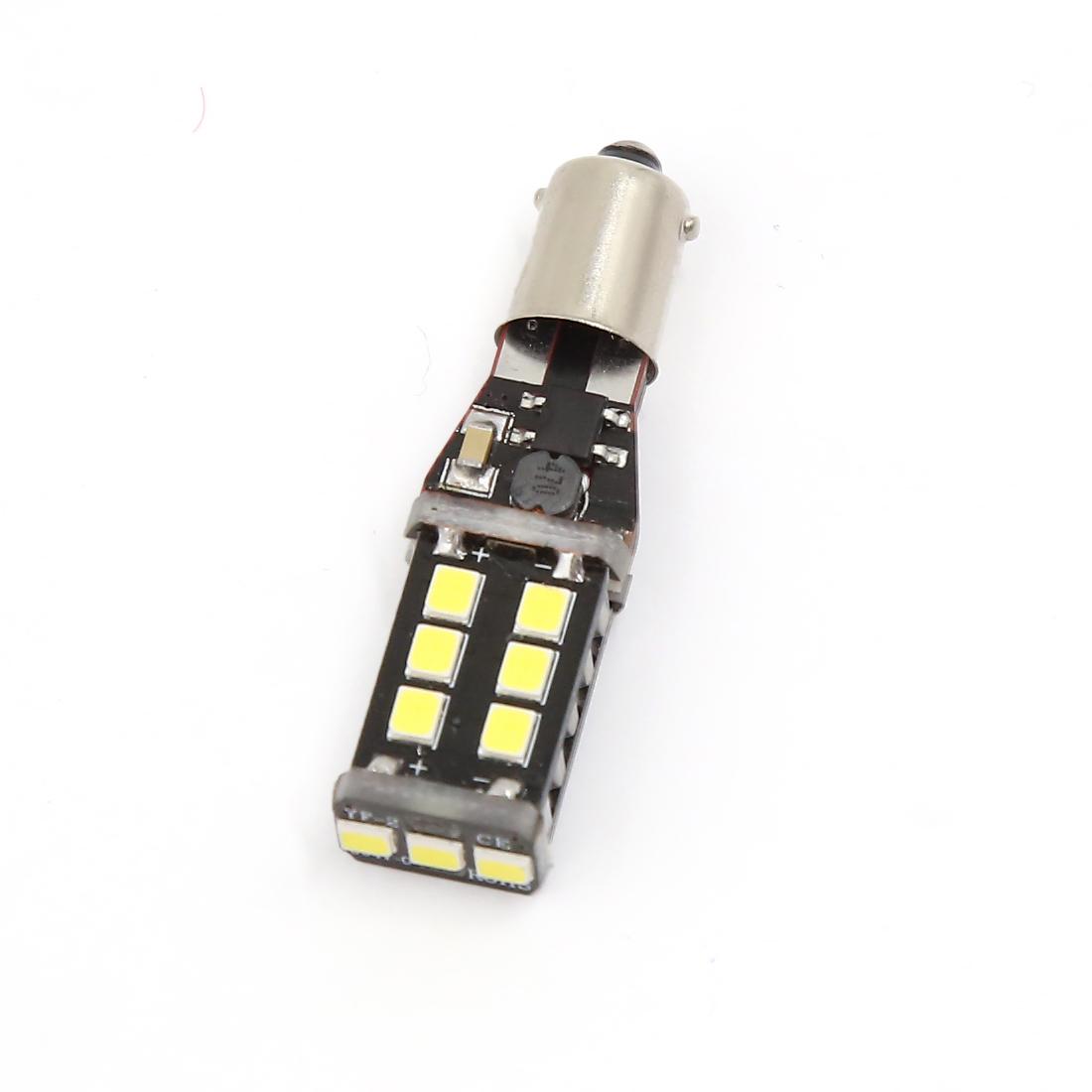 White 2835 DC 12V BA9S 15 SMD 15W LED Interior Reading Light Bulb Lamp for Car