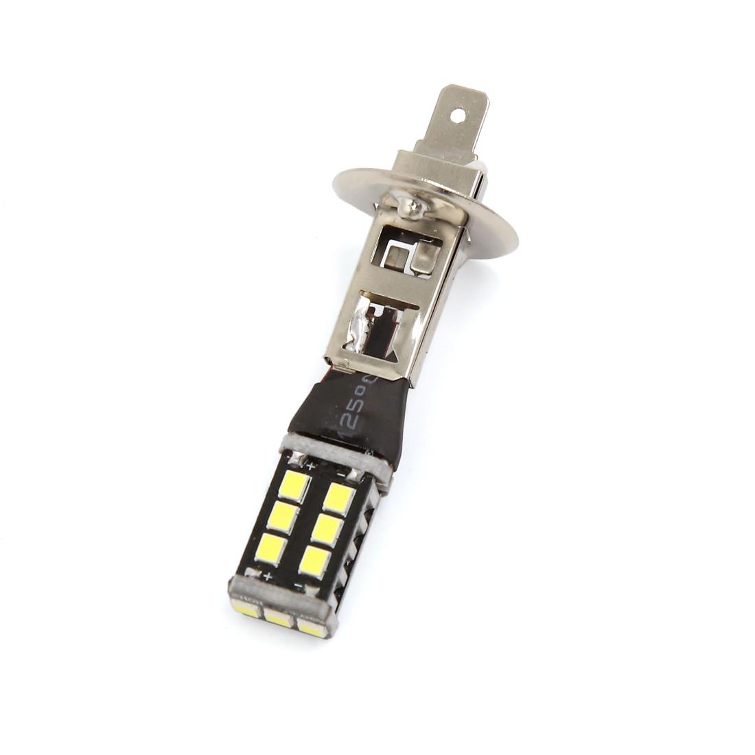Car Vehicle 15W 2835 H1 800-1000LM 15 SMD White Daytime Running Light Lamp Bulb