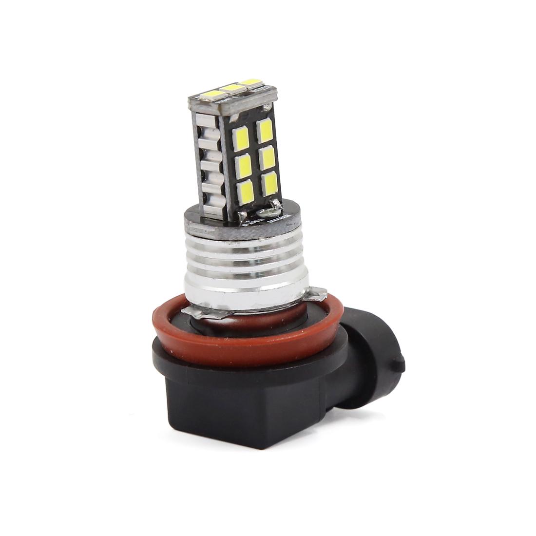 White 15W DC 12V 2835 H8 1000LM 15 SMD LED Car Fog Driving Light Bulb Lamp
