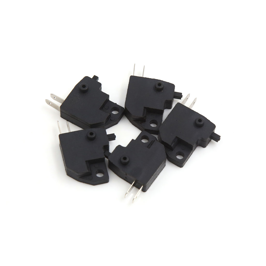 5Pcs Universal 2 Pins Square Motorcycle Scooter Disc Brake Control Switch Black