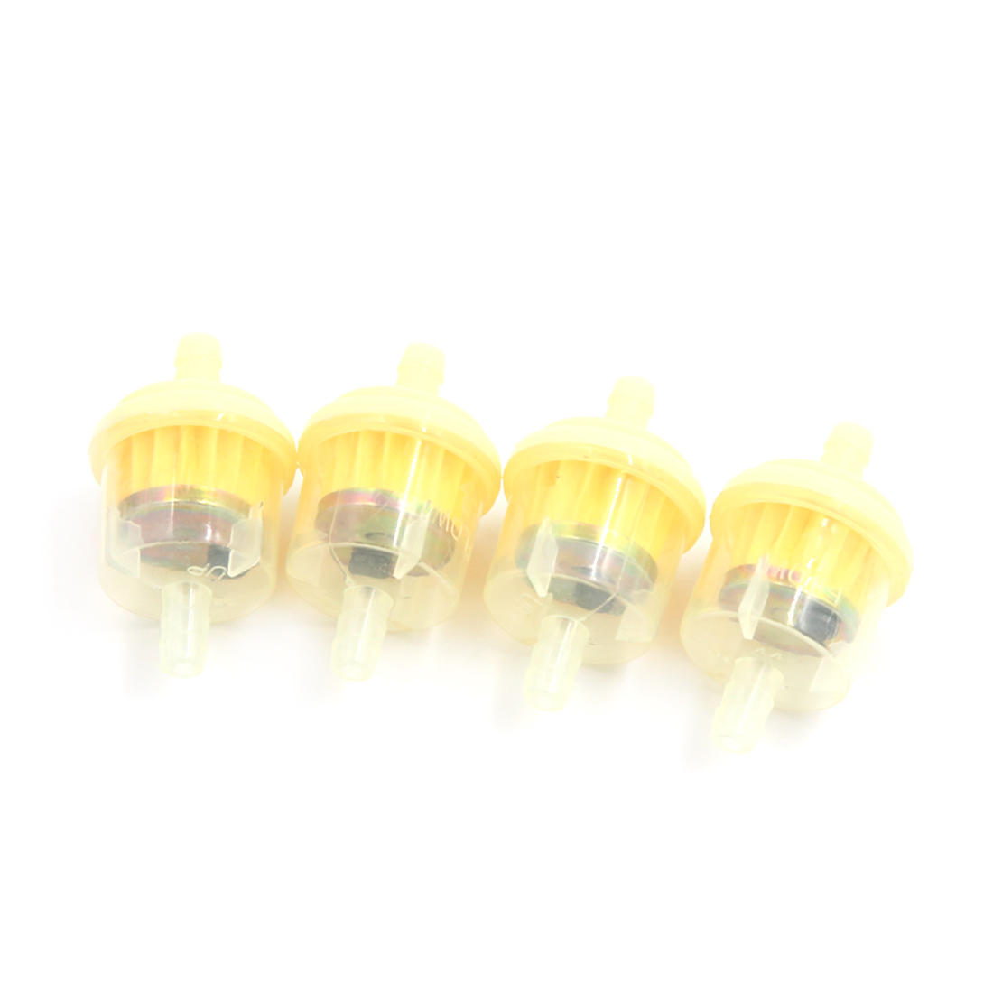 4Pcs Universal Motorcycle Scooter Gasoline Fuel Filter Clear Inline for 7mm Hose