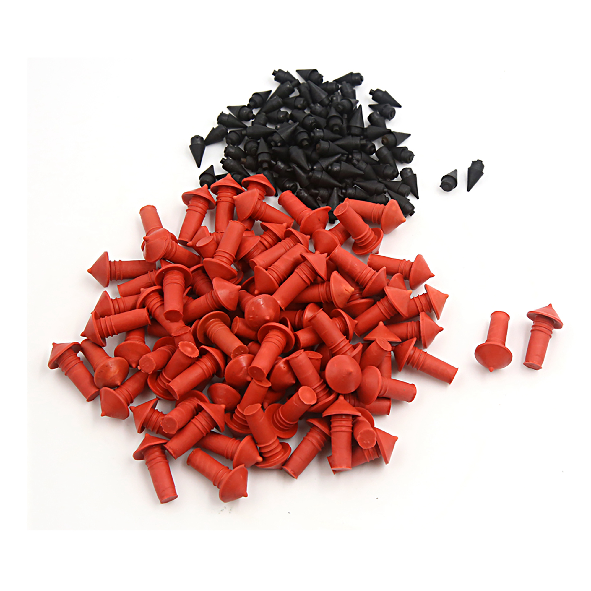 170Pcs Universal Mushroom Shaped Tire Repair Insert Plugs Red Black 7mm