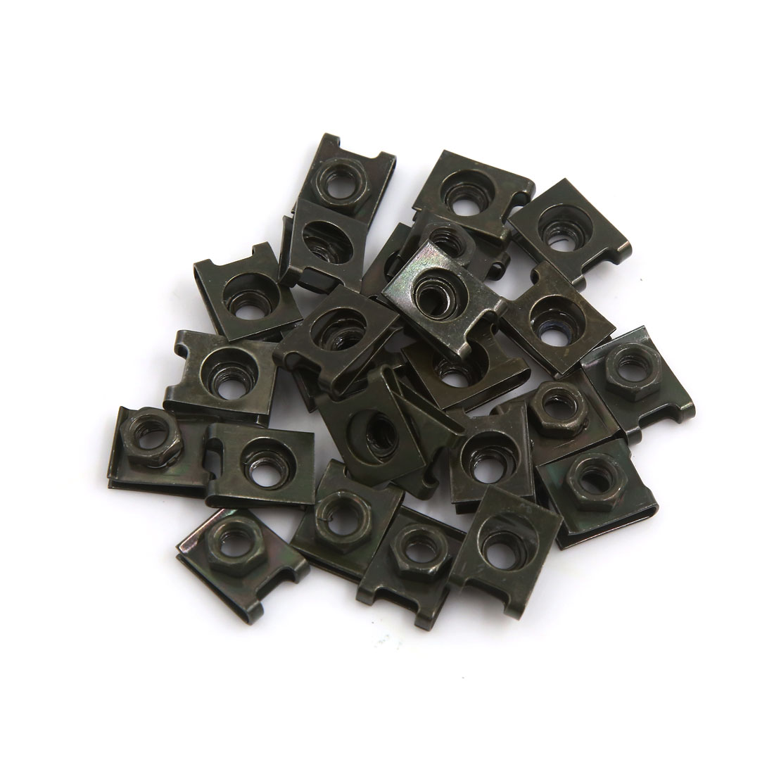 25Pcs Dark Green Metal Motorcycle Windscreen Fairing Fastener Clip for 6mm Screw