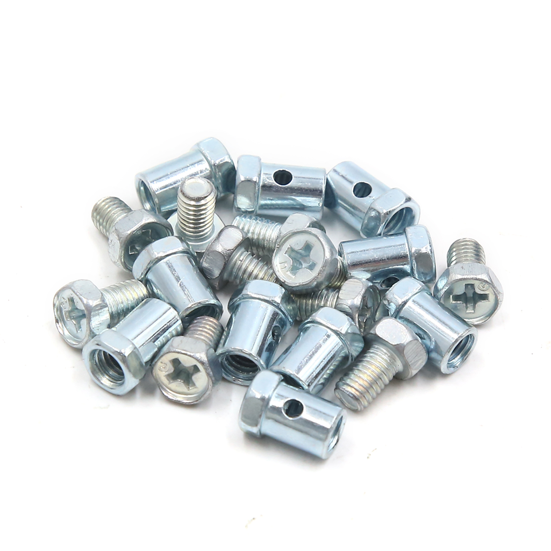 10Pcs 14 x 8mm Phillips Head Screw Motorcycle Brake Cable Solderless Wire Nipple