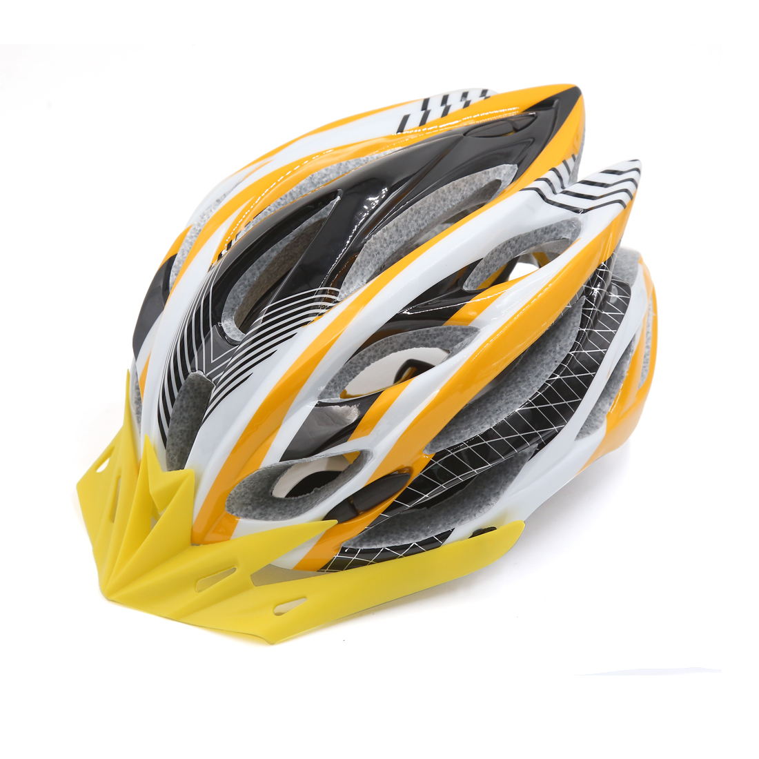 Yellow White Adjustable Adult Helmet Visor for Road Bike Racing Bicycle Cycling