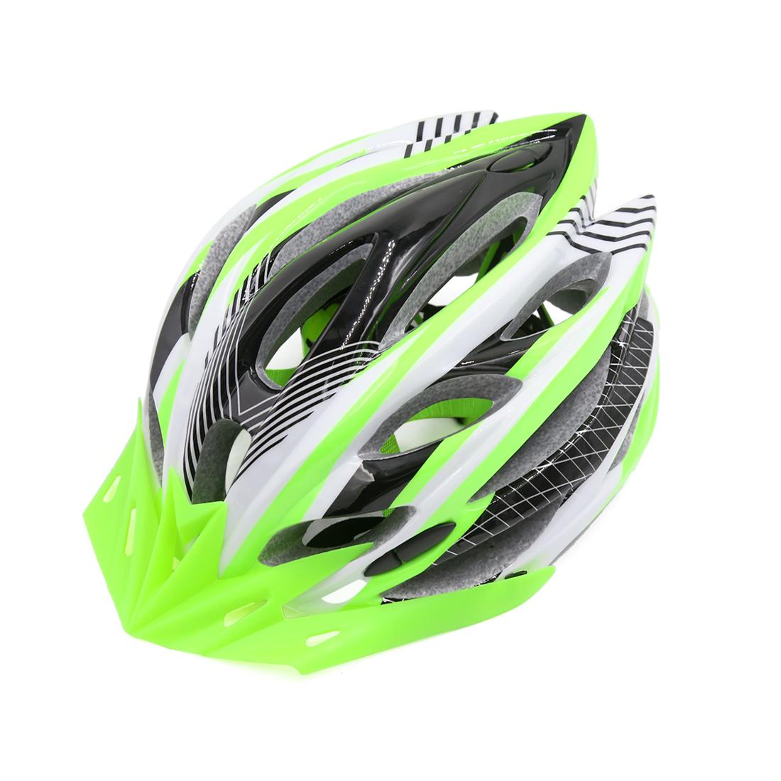 Green Black Adjustable Adult Helmet w Visor for Road Bike Racing Bicycle Cycling