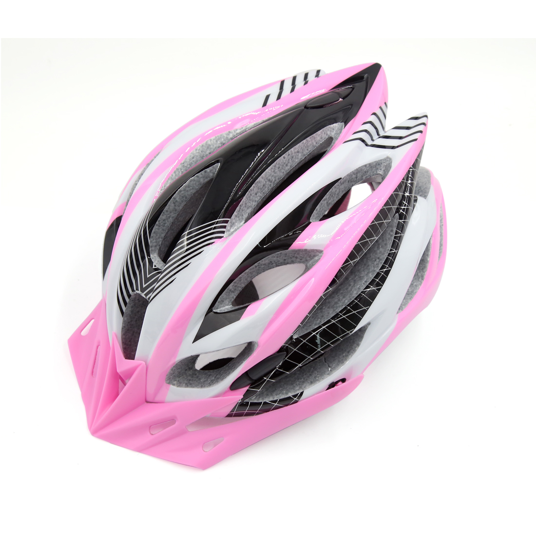Pink Black Adjustable Adult Helmet w Visor for Road Bike Racing Bicycle Cycling