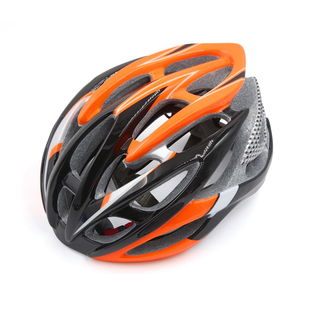 Black Orange 26 Vents EPS Adjusable Unisex Adult Helmet for Bike Bicycle Cycling