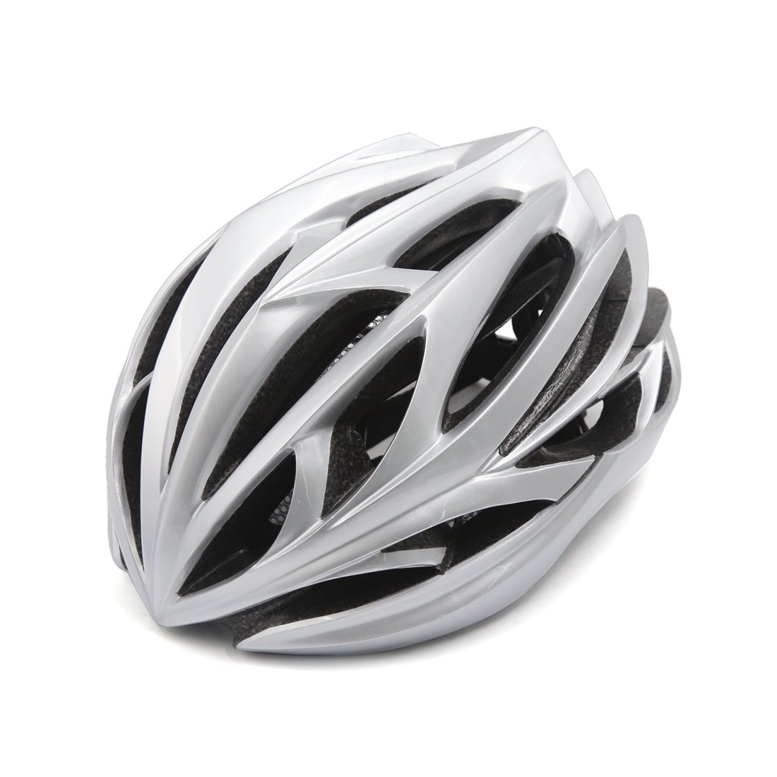 Unisex Adult MTB Mountain Bike Bicycle Cycling Shockproof Helmet Sliver Tone