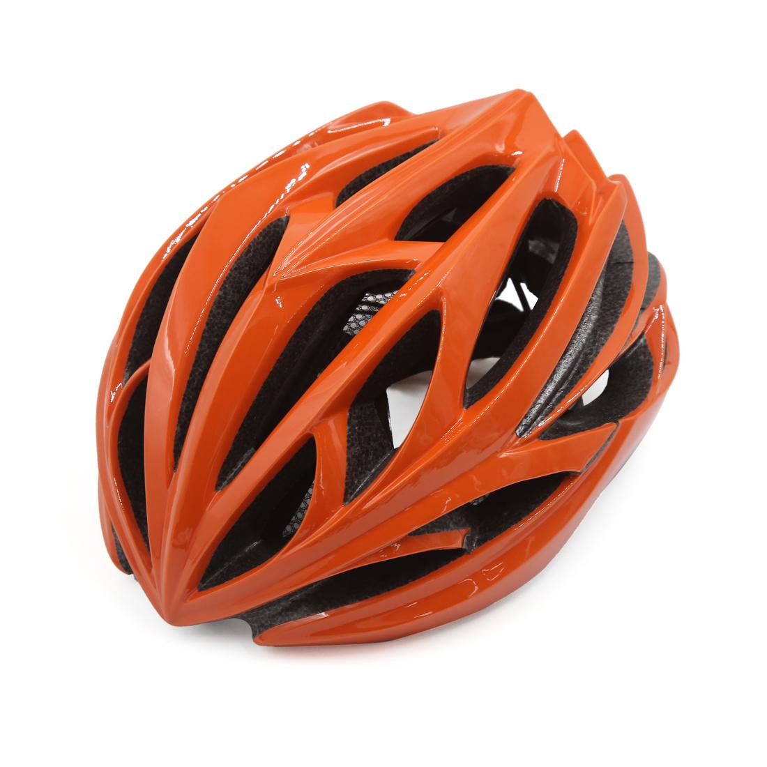 Unisex Adult MTB Mountain Bike Bicycle Cycling Shockproof Safety Helmet Orange