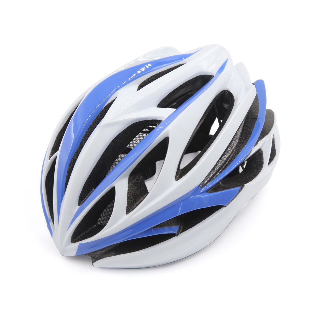 Unisex Adult Mountain Bike Bicycle Cycling Shockproof Helmet Light Blue White