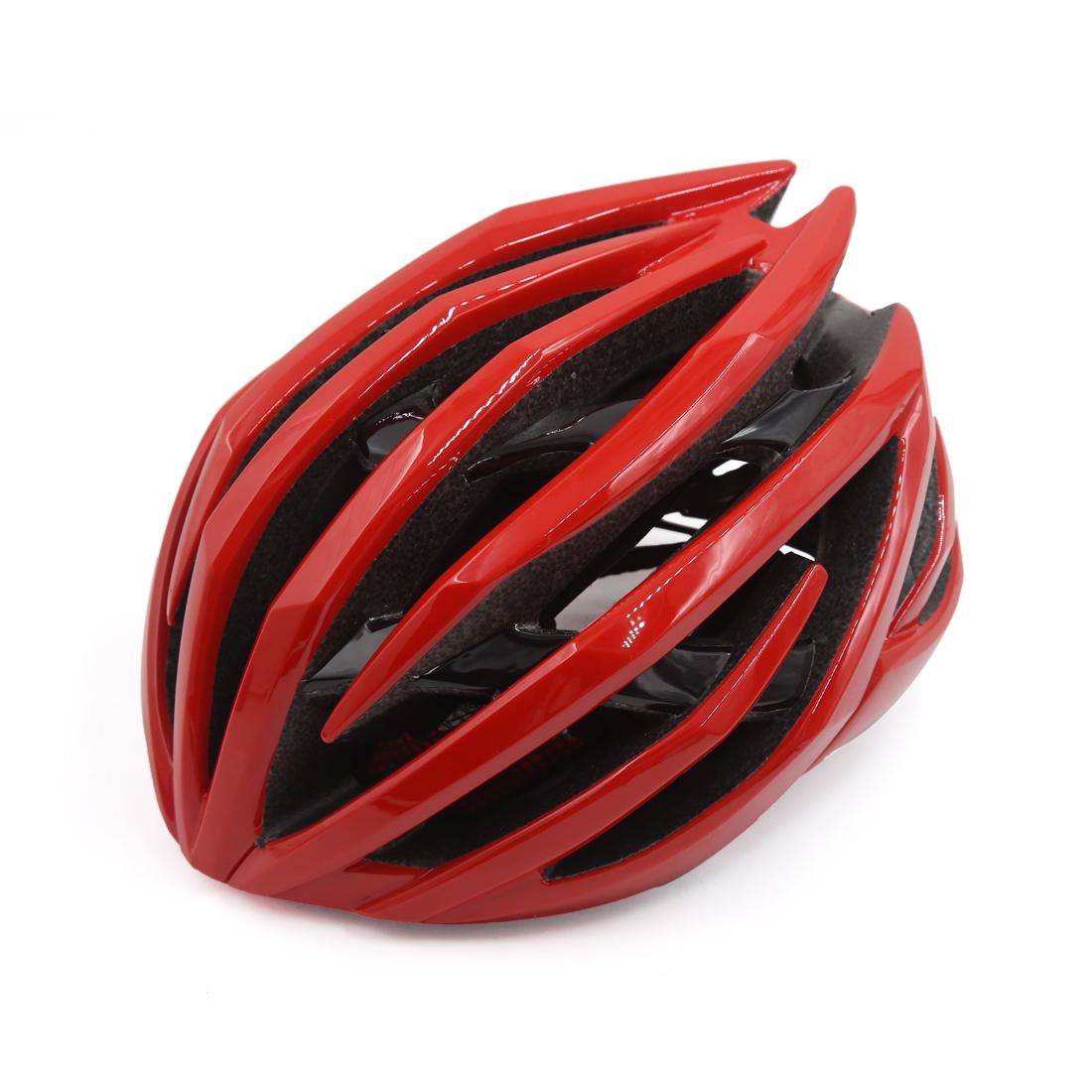 Red Black Shockproof Ultralight Integrally Molded EPS Mountain Bike Helmet
