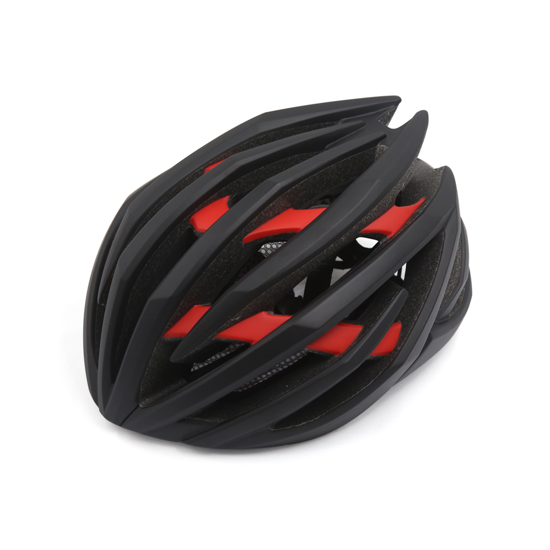 Matte Red Black Shockproof Ultralight Integrally Molded EPS Mountain Bike Helmet