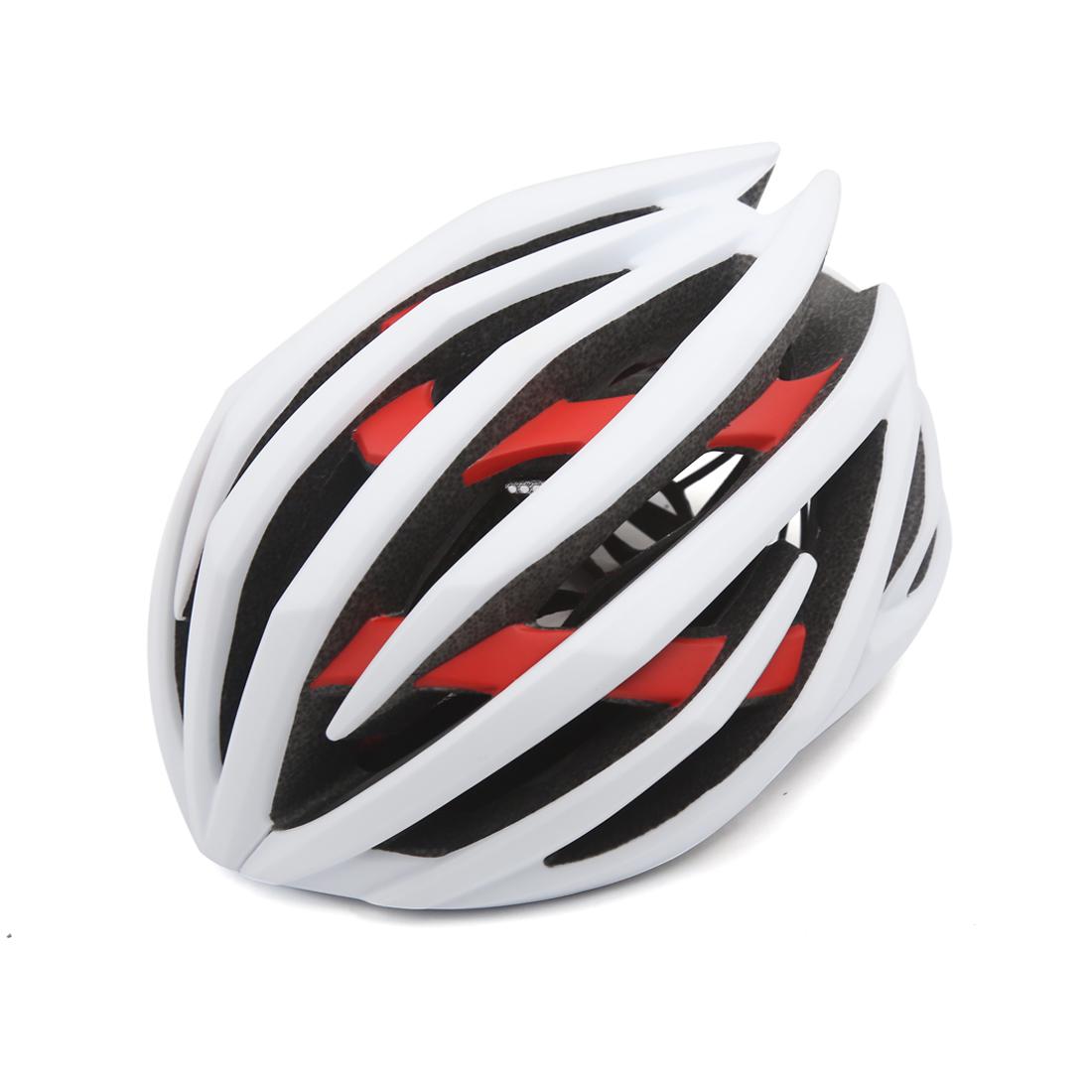White Red Shockproof Ultralight Integrally Molded EPS Mountain Bike Helmet