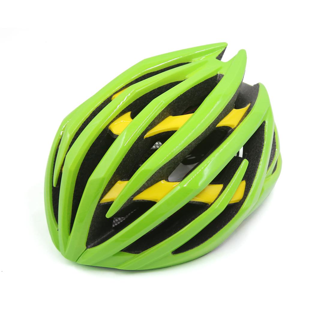 Green Yellow Shockproof Ultralight Integrally Molded EPS Mountain Bike Helmet