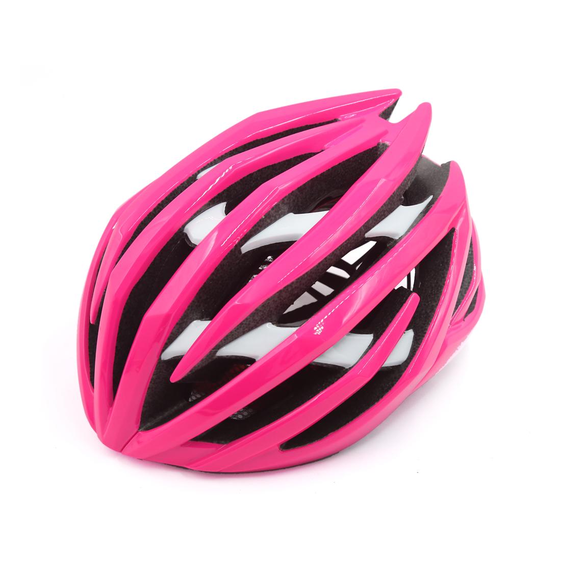 Pink White Shockproof Ultralight Integrally Molded EPS Mountain Bike Helmet