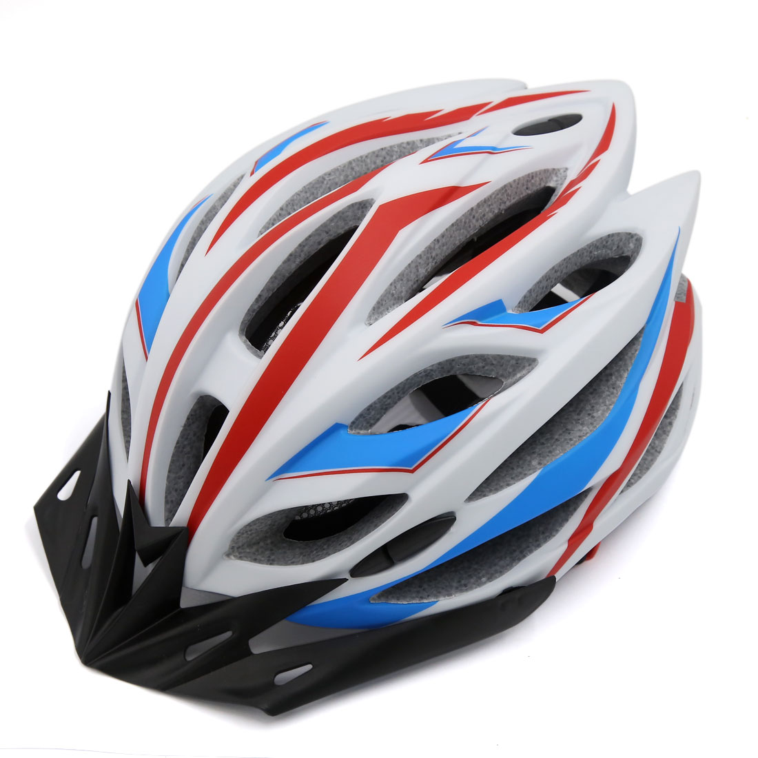 Fit 54-60cm Head Girth 22 Vents Road Mountain MTB Bike Helmet White Red Blue