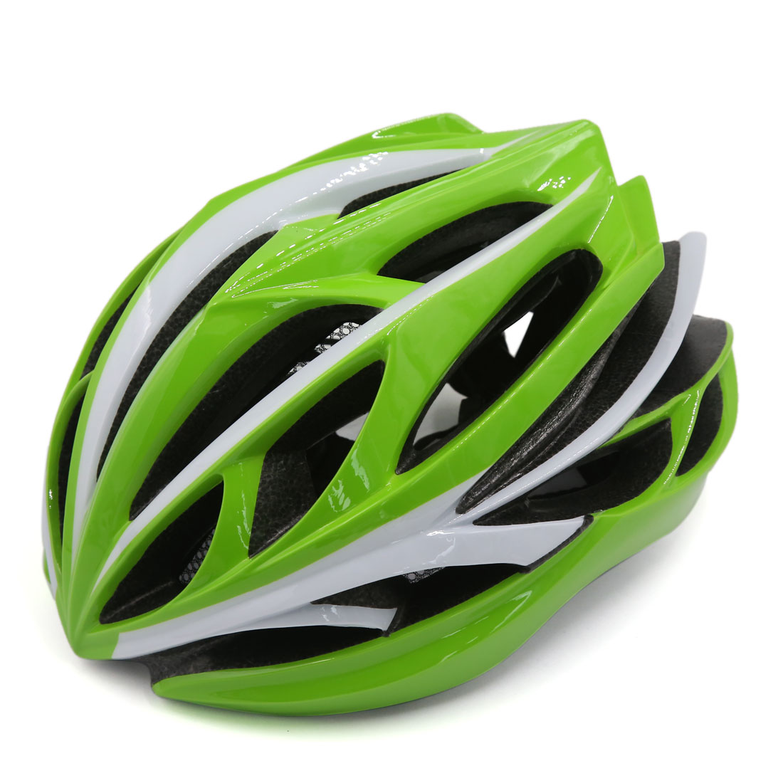 24 Flow Vents Ultralight EPS Road Bike Outdoor Sports Safety Helmet Green White