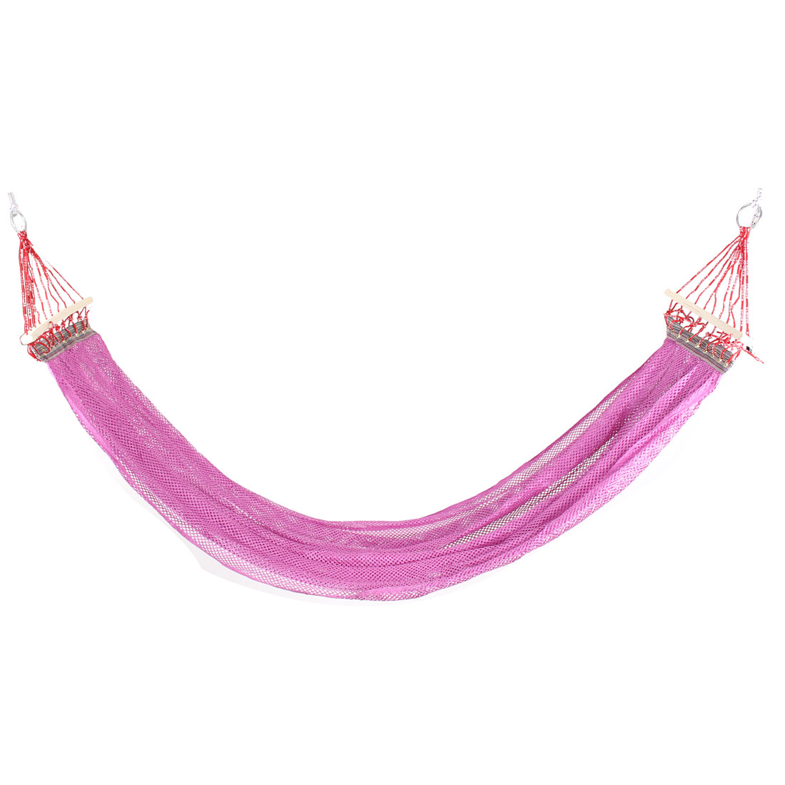 Travel Hiking Nylon Mesh Spreader Swing Hanging Bed Suspended Hammock Purple