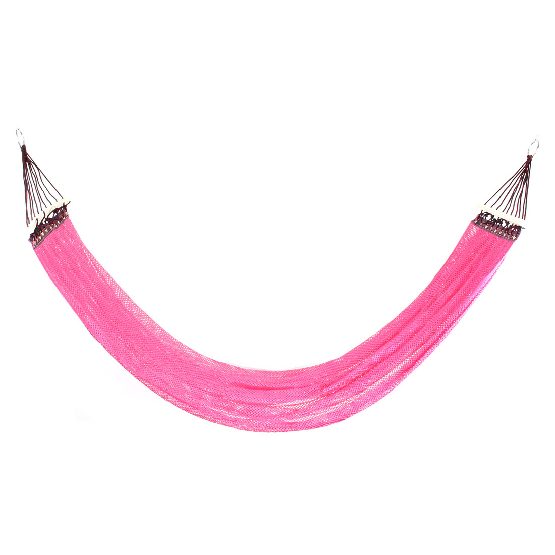 Camping Hiking Nylon Mesh Spreader Swing Hanging Bed Suspended Hammock Pink