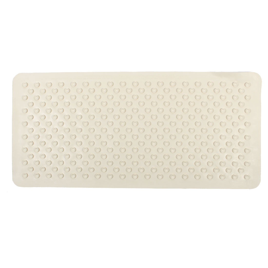 Hotel Bathroom Rubber Wave Pattern Non Slip Suction Floor Bath Mat Beige 35cm x 75cm