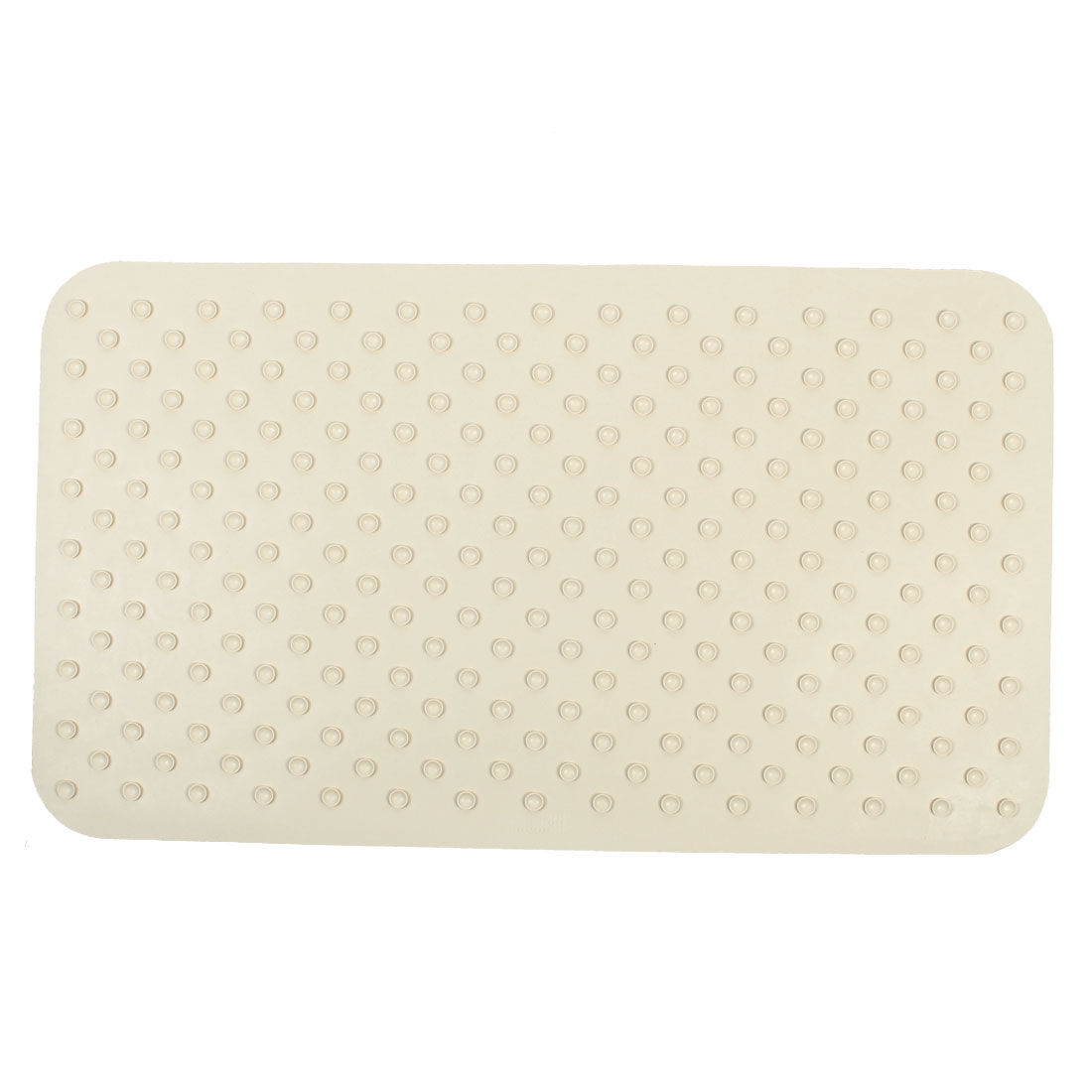 Gym Hotel Bathroom Rubber Paisley Pattern Non Slip Suction Bath Mat Pad Beige 40cm x 75cm