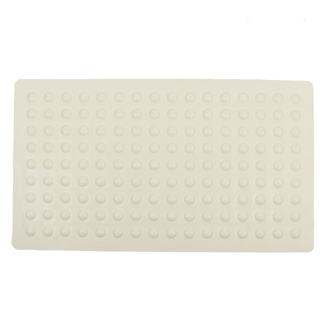 Gym Bathroom Hotel Rubber Big Bubble Massage Non Slip Bath Mat Beige 40cm x 70cm