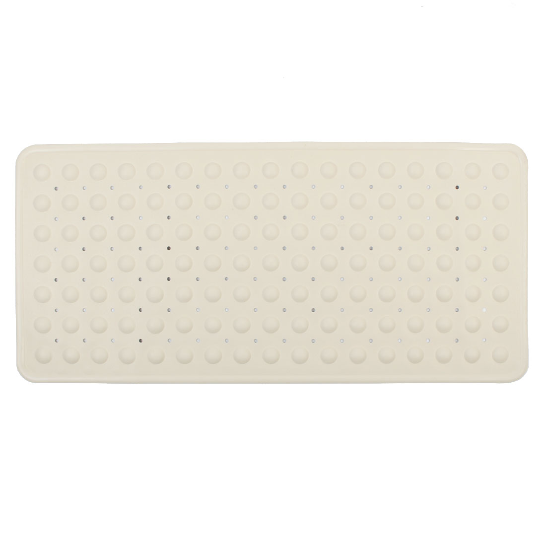 Hotel Bathroom Rubber Slip-Resistant Suction Floor Bath Mat Beige 35cm x 75cm