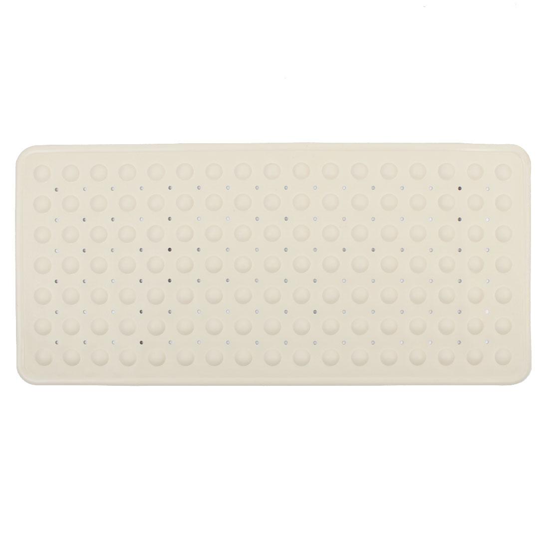 Hotel Bathroom Rubber Slip-Resistant Suction Floor Bath Mat Beige 35cm x 75cm