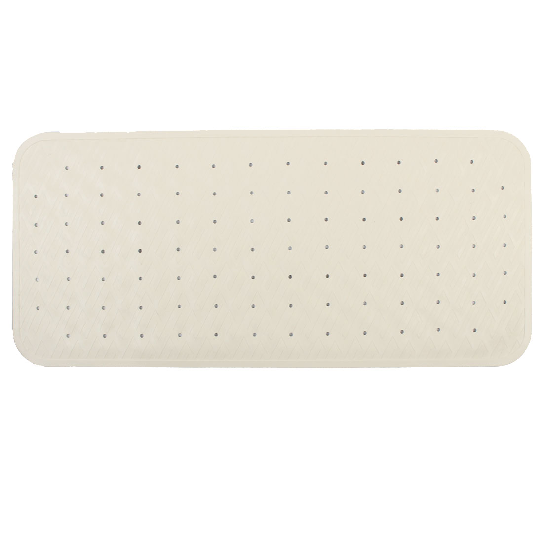 Hotel Bathroom Bathtub Rubber Non Slip Suction Bath Mat Beige 35cm x 76cm