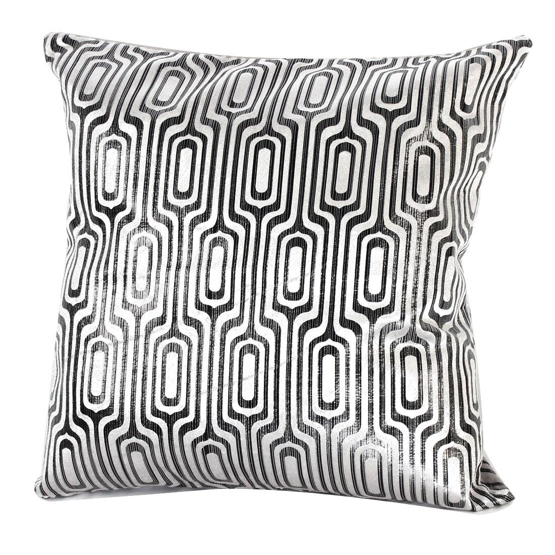 Bedroom Home Hotel Sofa Car Chair Square Decorative Pillowcase Cushion Cover Silver Tone