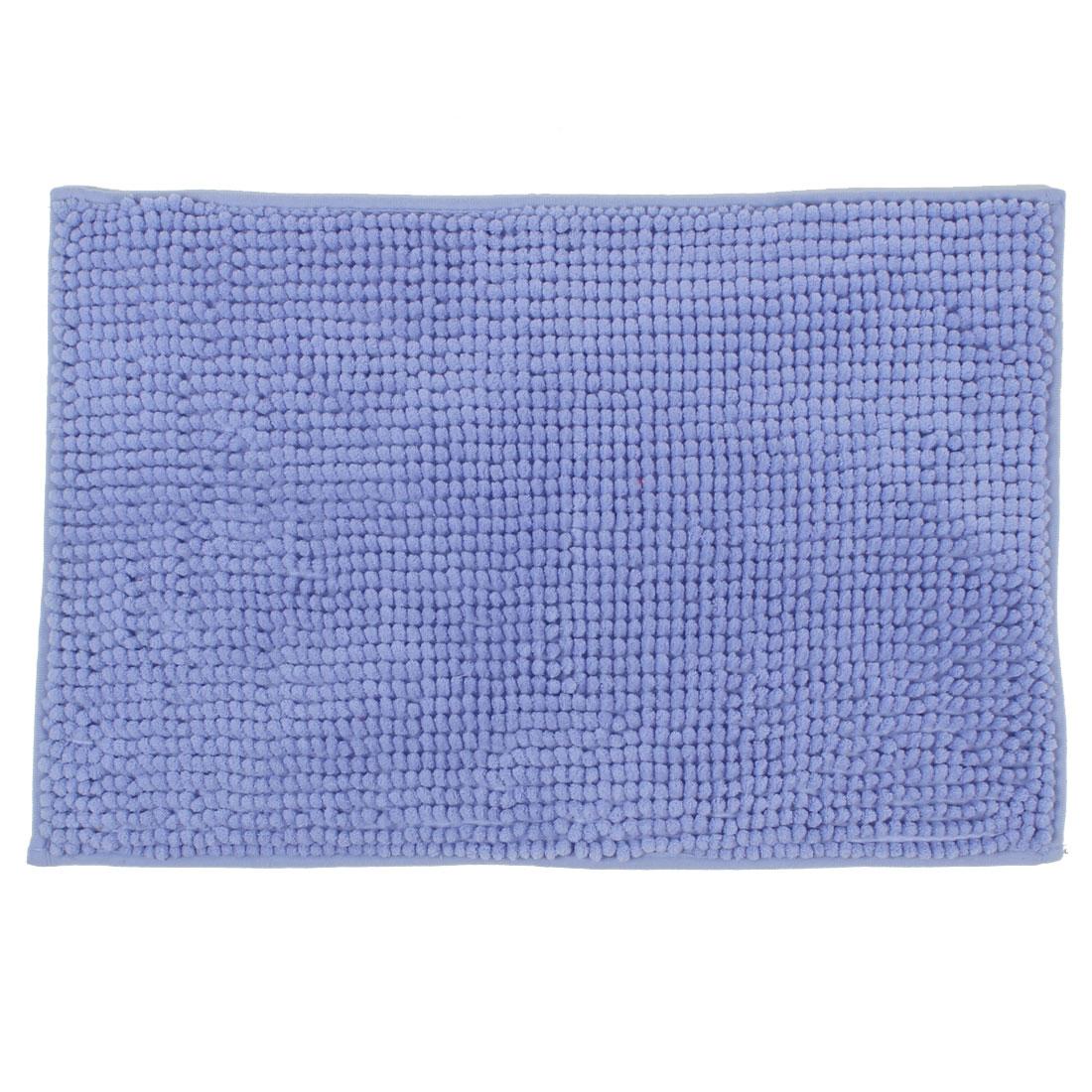 Household Bathroom Restaurant Soft Non Slip Absorbent Bath Mat Blue 24 x 16 Inch