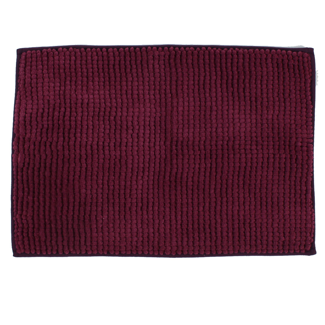 Hotel Home Bathroom Soft Durable Non Slip Absorbent Bath Mat Burgundy 24 x 16 Inch