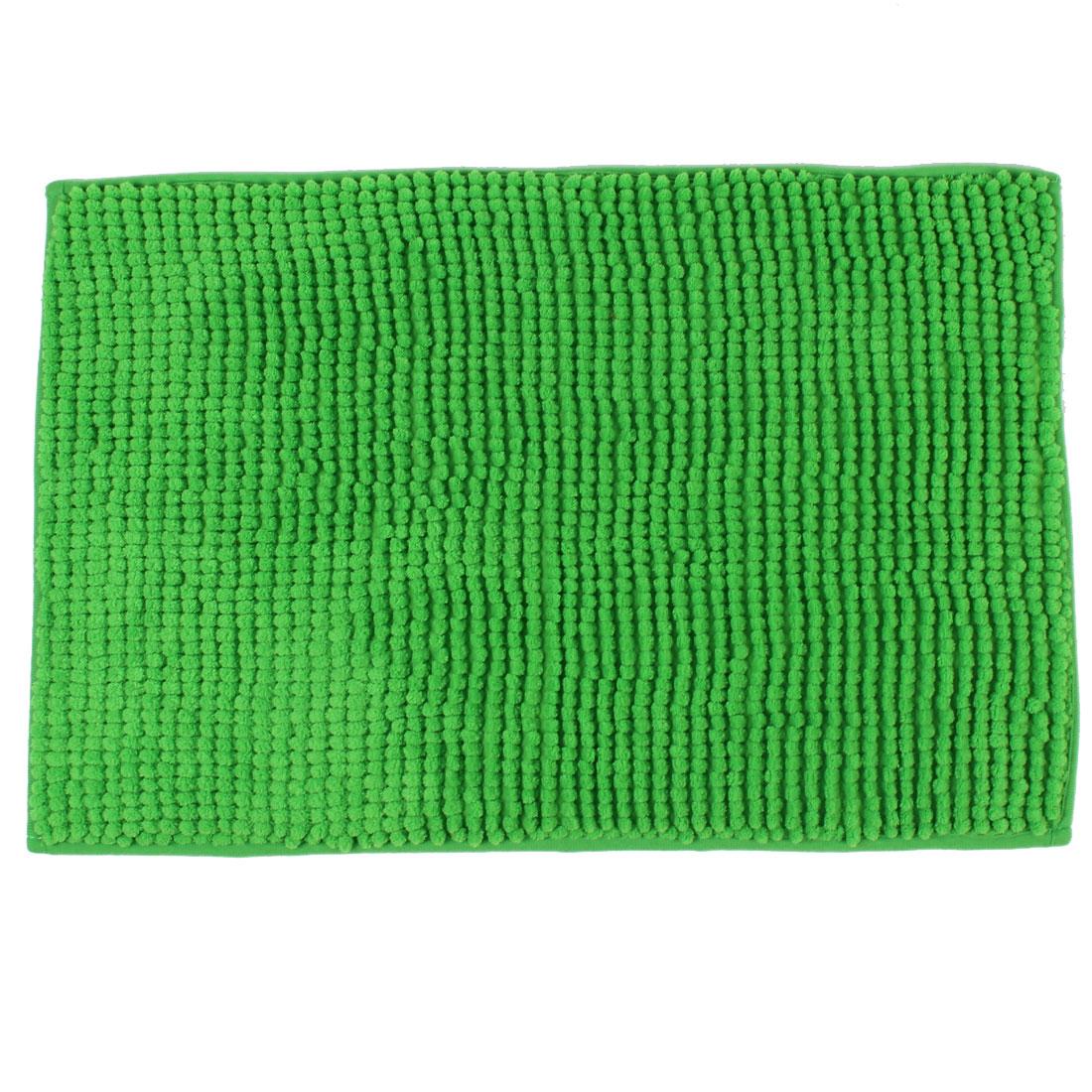 Hotel Bathroom Soft Hairy Non Slip Absorbent Bath Mat Carpet Green 24 x 16 Inch